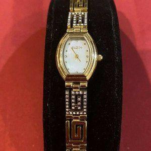 Elgin Ladies GREEK KEY Crystal Watch EG8092ST